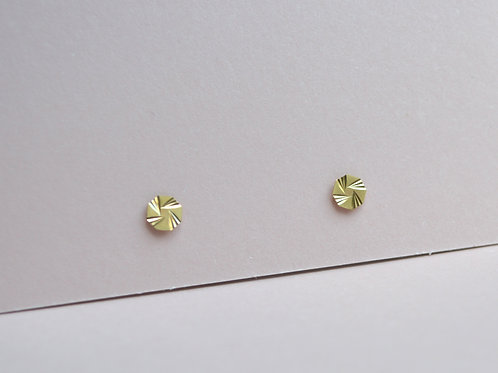 Astrology Hex Studs - 9ct Gold