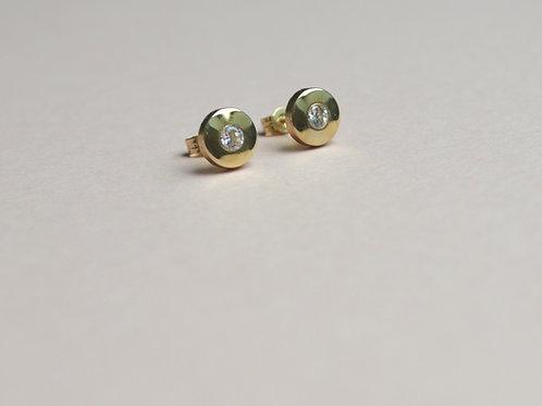 Sundial Crystal Earrings - 9ct Gold