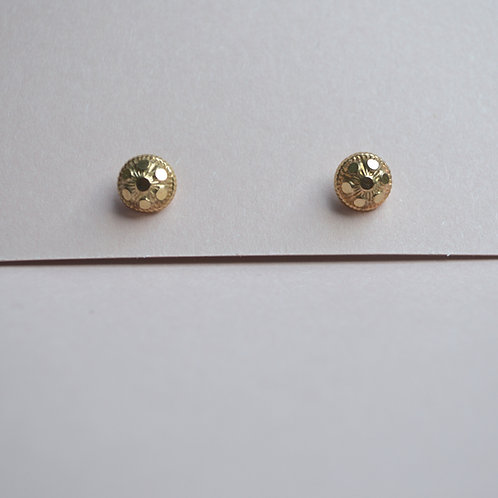 Goa Studs Large - 9ct Gold