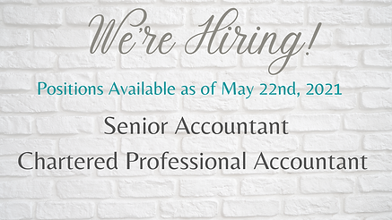 Positions Available as of May 22nd, 2021
