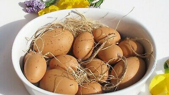 Natural Eggs - Easter Decorations - Assorted Bag of 12