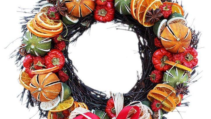 Festive Fruit Ring Wreath - 25cm or 35cm