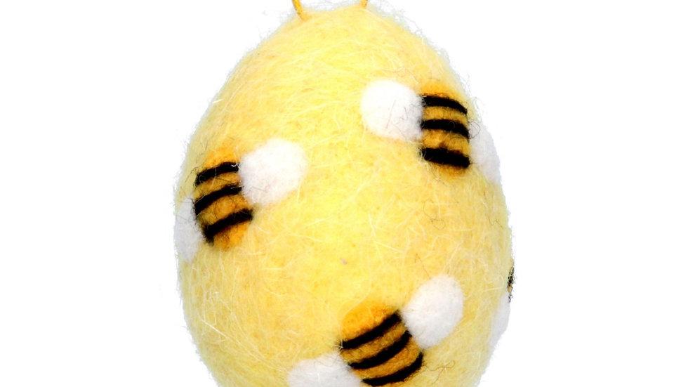 Felt Bumble Bee Hanging Decorations - 6.5cm