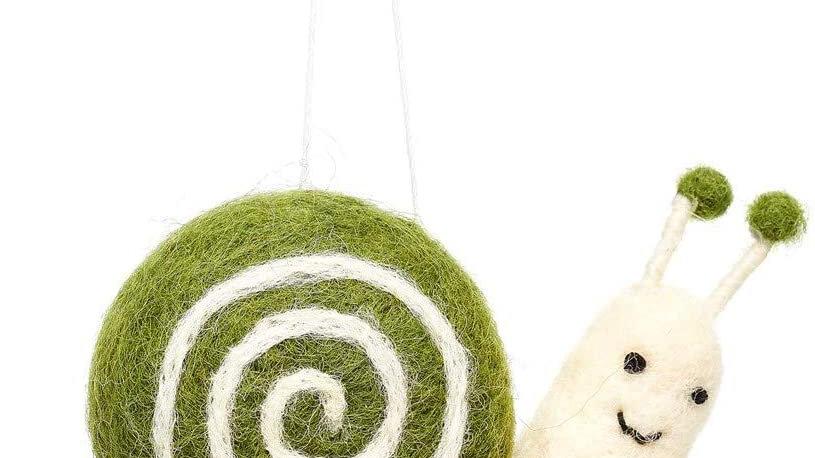 Felt Garden Snail Hanging Decoration