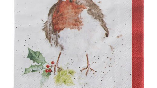Christmas Robin Lunch Napkins- 20pk