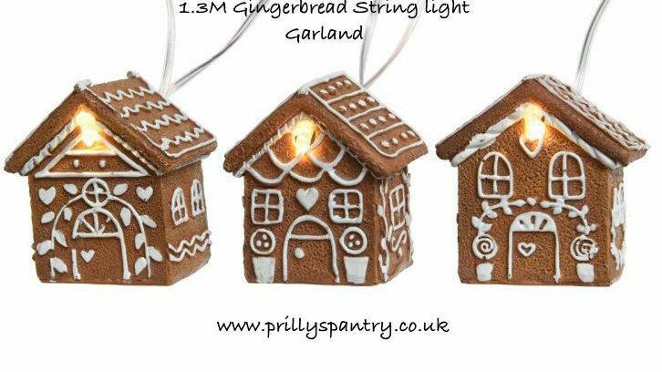Gingerbread House Led Fairy String Lights 6 Warm White Battery Power Houses 1.3M