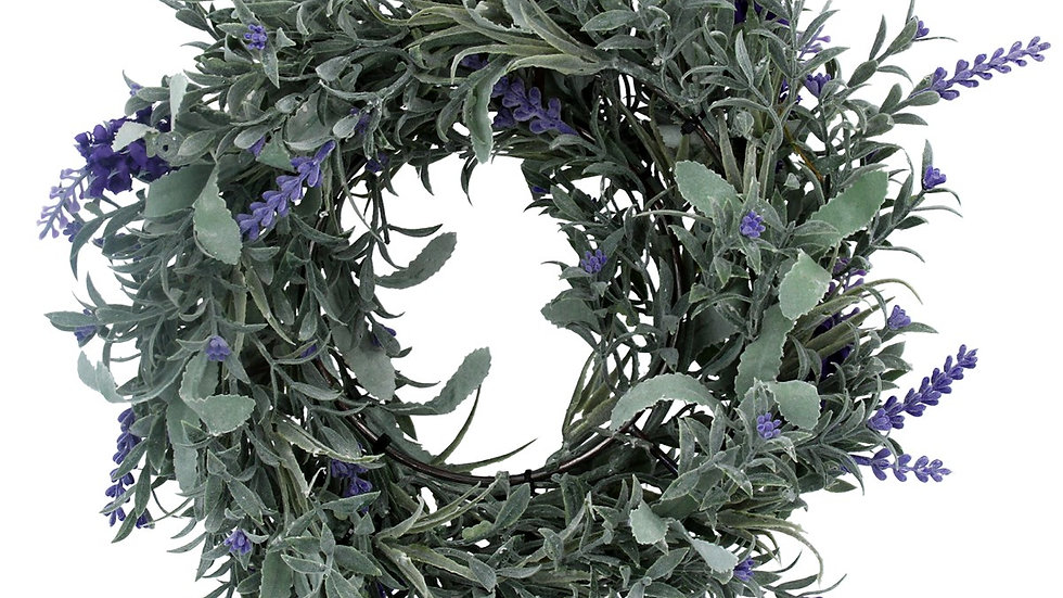 Faux Lavender Wreath - 25cm Medium