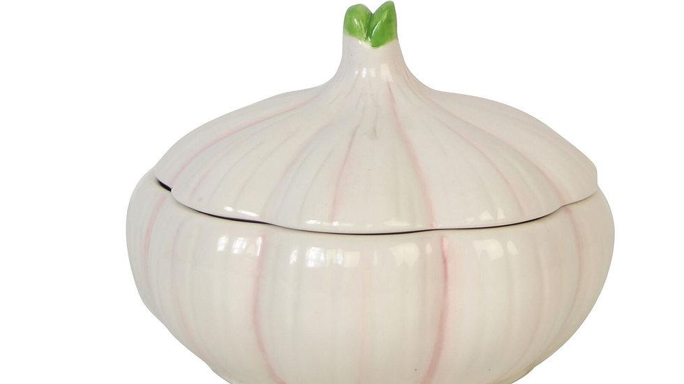 Ceramic Garlic Storage Jar by Gisela Graham