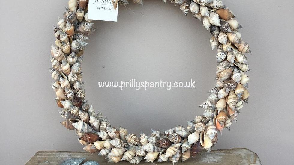 Shell Wreath Mixed Natural Browns Chula Shell Wreath - 27cm