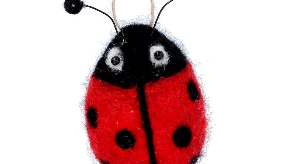 Felt Ladybird Hanging Spring Decorations