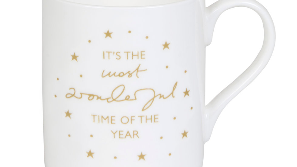 """Holly & Berry """"It's the Most Wonderful Time of the Year!"""" Mug"""