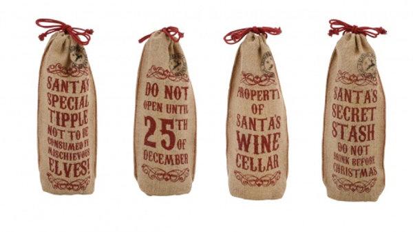 Jute Hessian Wine Bottle Gift Bags