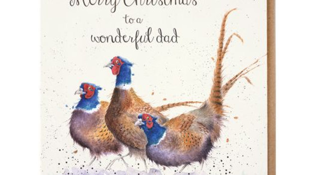 'Wonderful Dad' Wrendale Christmas Card