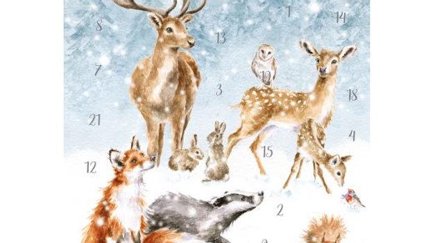 New! Wrendale Designs 'A Winter Wonderland' Traditional A4 Advent Calendar