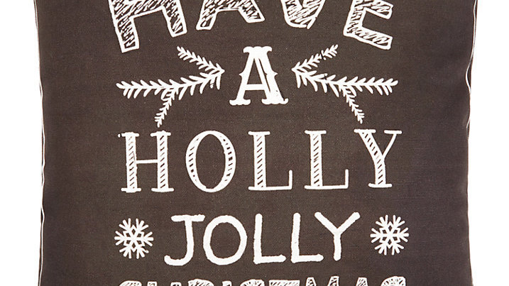 Pair 'Have A Holly Jolly Christmas' Chalk Text Christmas Cushions