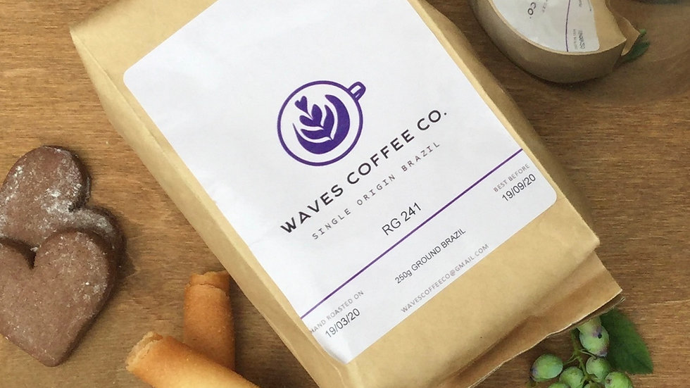 Waves Coffee Co - Brazil Single Origin 250g Coffee