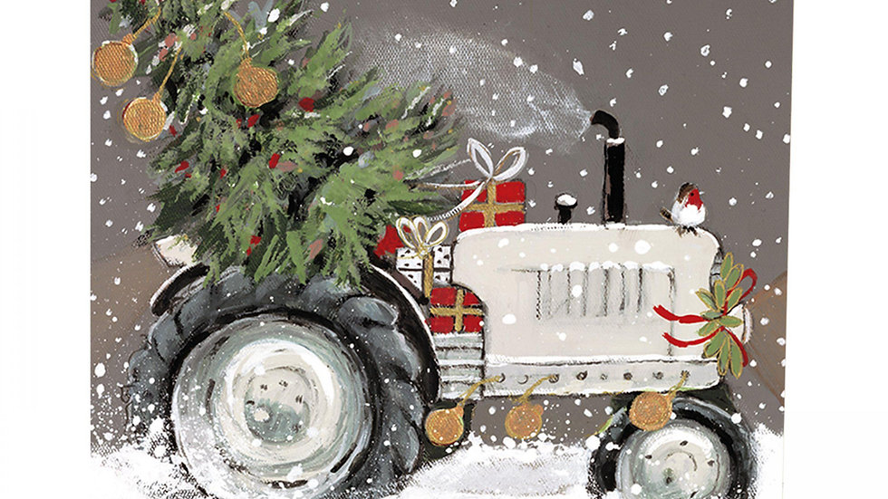 Special Delivery - Vintage Tractor - Shelter Charity Christmas Card Pack