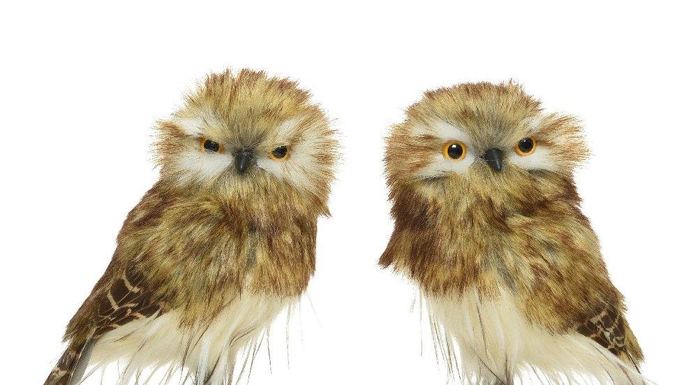 Woodland Tawny Owl Plush Halloween, Christmas, Autumn, Winter Decoration - 15cm