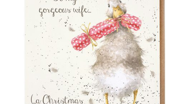 'Christmas Cracker' Wrendale Wife Christmas Card