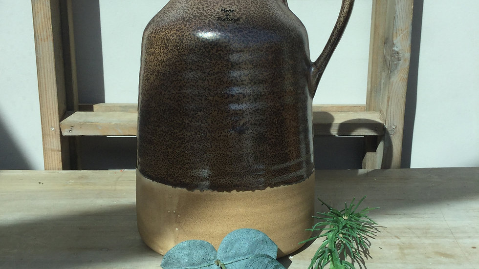 Rustic Pottery Jug/Vase Made In Portugal