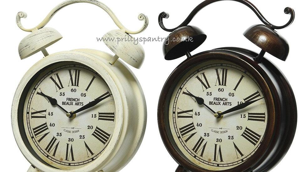 Large Vintage Design Double Bell Mantle Clock - 31cm x 8cm