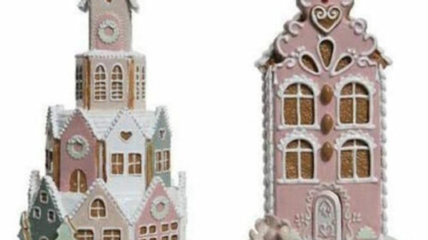 Artisan Iced Biscuit Gingerbread House - Money Box / Piggy Bank