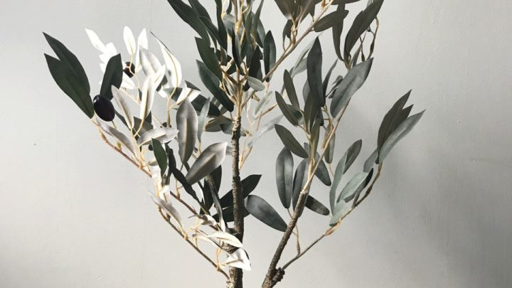 Artificial Potted Olive Tree - 60cm.