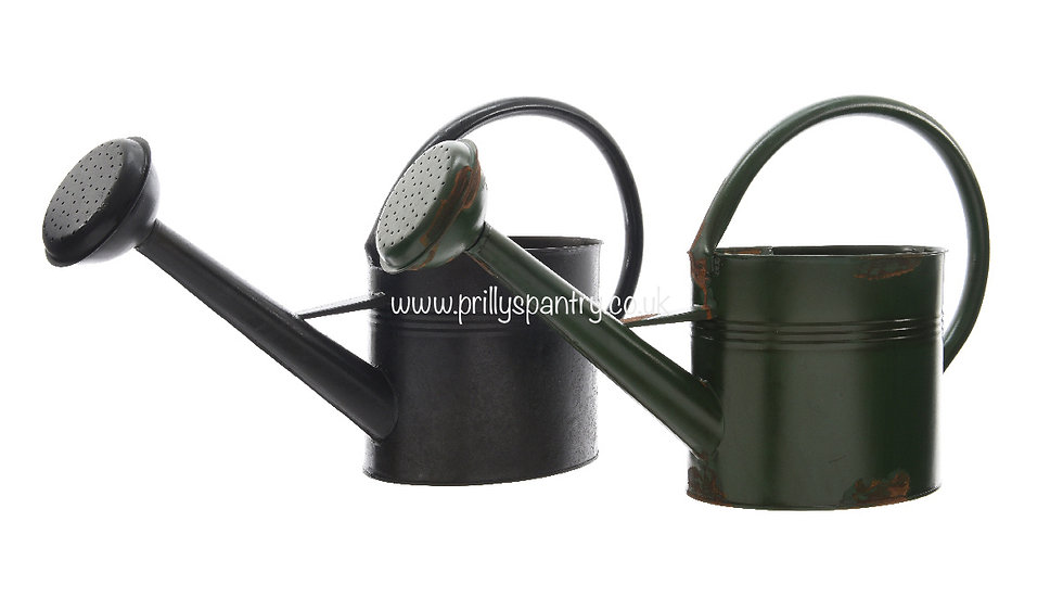 5 Litre Metal Oval Watering Can - Antiqued Effect