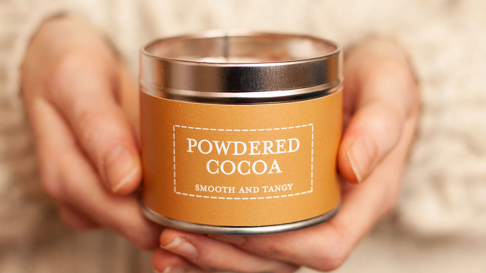 Powdered Cocoa Tin Candle - Pastels Collection