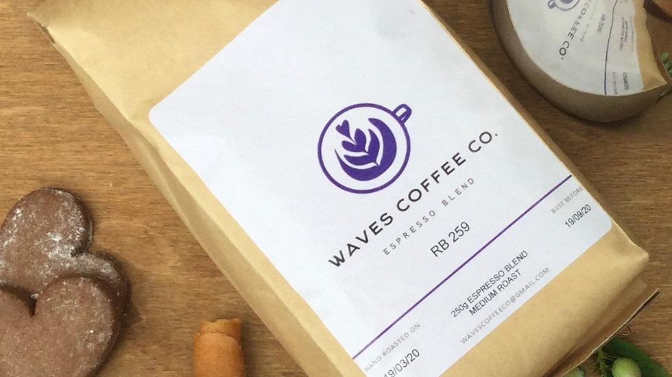 Waves Coffee Co - Espresso Blend Coffee 250g