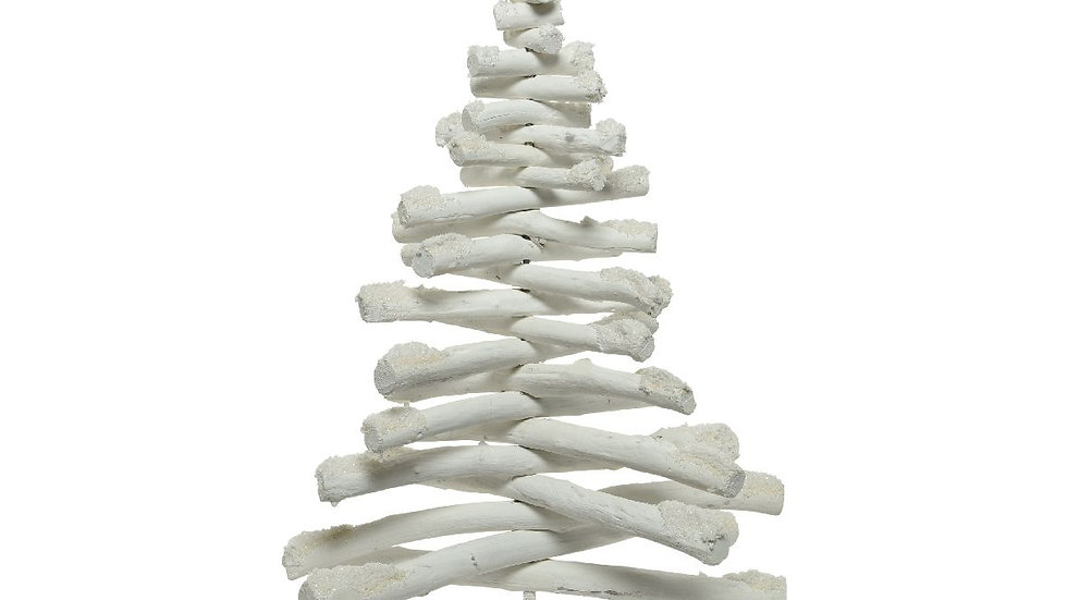 White Washed Pine Drift Wood Alternative Christmas Tree -With Glitter 40 x 62cm