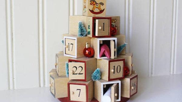 Natural Wooden Box's Christmas Advent Calendar