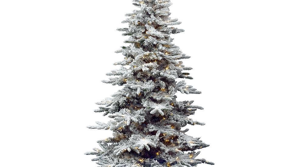Everlands Snowy Alaskan Fir Pre Lit Artificial Tree 7ft / 210cm