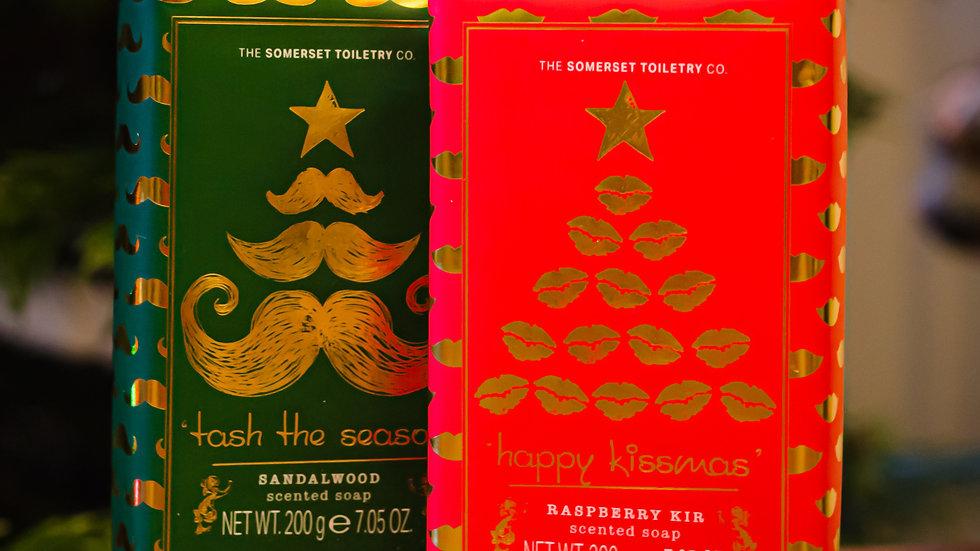 "Mr & Mrs Christmas Soap - ""Tash The Season"" & ""Happy Kissmass"""