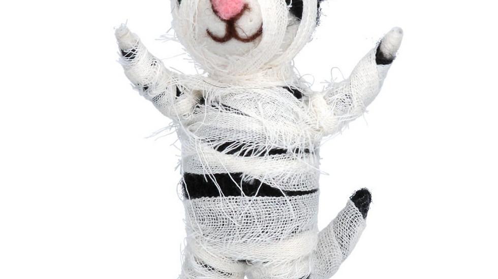 Felt Wool Halloween Mummy Cat By Gisela Graham