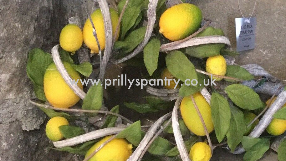 Luxury Artificial Lemon Twig Wreath by Gisela Graham - 22cm