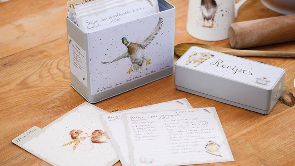 Wrendale Designs Recipe Card Tin & Card Set