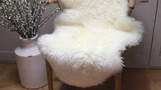 M/L Curly Coat Sheepskin Rug - Ivory - 90+cm