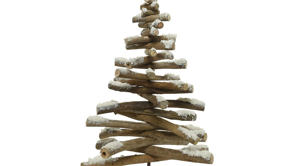 Natural Pine Drift Wood Alternative Christmas Tree -With Glitter 40 x 62cm
