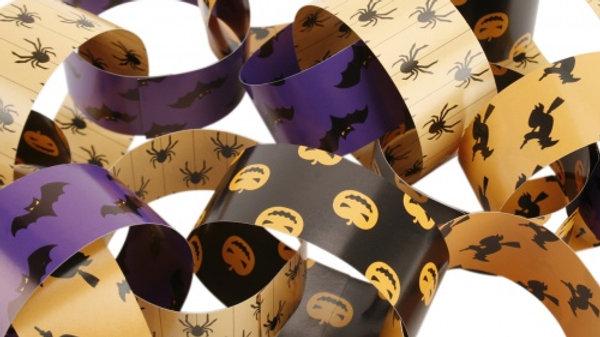 Halloween Paper Chains Set - 200 Links/10metre