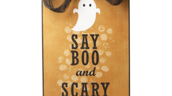 'Say Boo & Scary On!' Large Halloween Sign