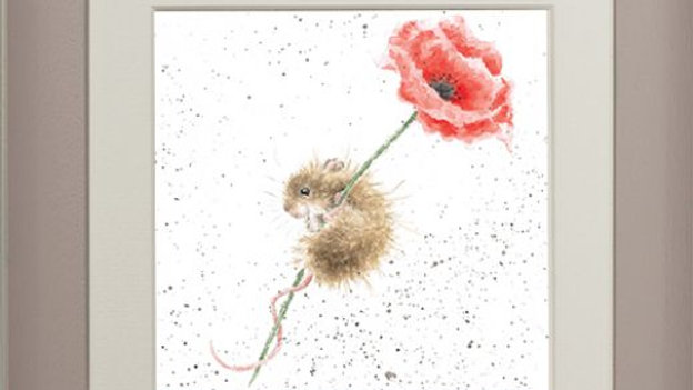 Wrendale 'Poppy' Small Framed Card Picture