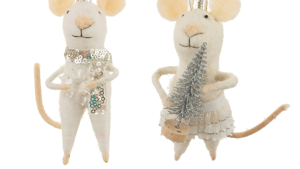 KING & QUEEN MICE PAIR DECORATIONS