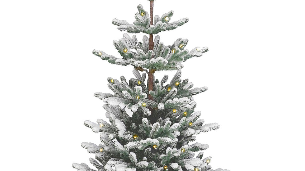 90cm (3ft) Snowy Imperial Pre Lit Christmas Tree with Weighted Hessian Base