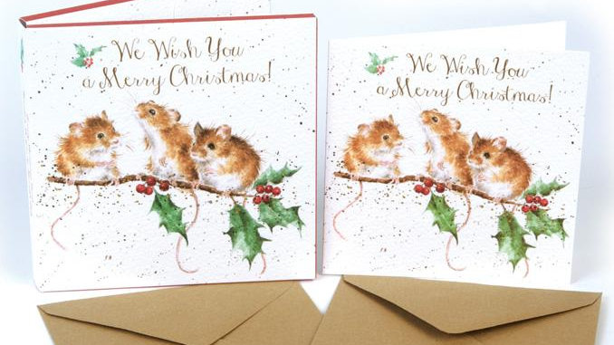 'Christmas Mice' Christmas Card Set