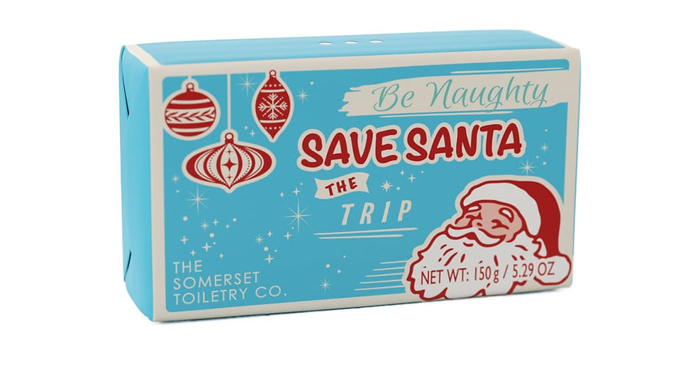 Naughty List - Be Naughty Save Santa The Trip - Wrapped Soap Bar 150g