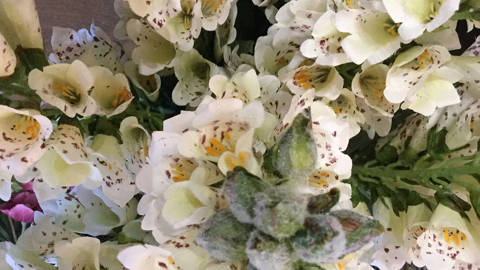 Artificial White Foxgloves - 3 Stems