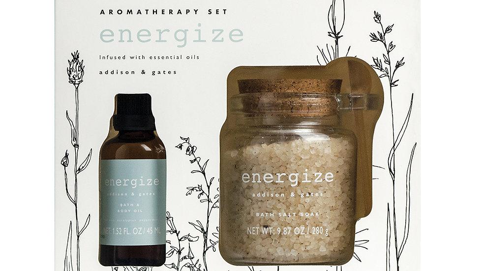 """""""Energize""""Tea Tree, Eucalyptus & Peppermint Aromatherapy Bath & Body Gift Set"""