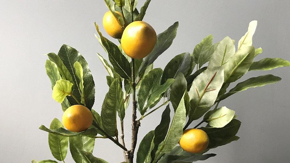 Artificial Potted Lemon Tree - 60cm
