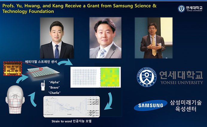 Profs, Yu, Hwang, and Kang receive a grant from Samsung Science & Technology Foundation